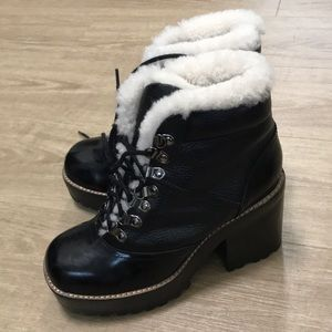 NWT🎈Jeffrey Campbell Sherpa combat boots LF